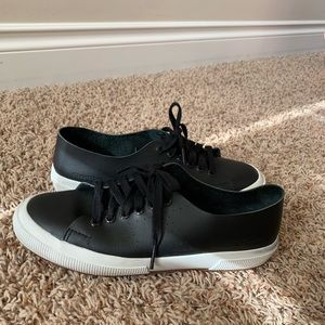 Superga raw leather sneakers